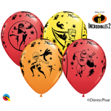 Incredibles 2 Balloons - 11 Inch Balloons 6pcs